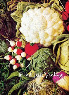 Vintage Crochet Knitting Pattern Gemüse von 2ndlookvintage auf Etsy
