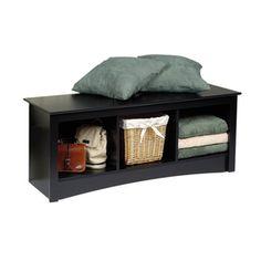 Prepac Furniture�Black Indoor Accent Bench with Storage