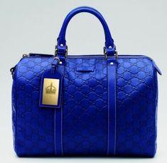 Guccissima leather Royal Blue Joy Bag 2013 @}-,-;-- #JustGuccihandbags