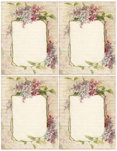 Spring Lilacs & Music ~ free printable with 4 lilac & music note papers