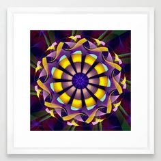 Mandala of Happiness Framed Art Print