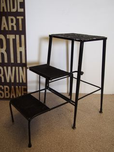 Details About Funky 2 In 1 Kitchen Step Stool Ladder