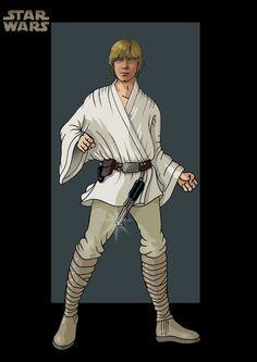 Luke Skywalker - Star Wars by Gary Anderson