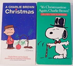 Charlie Brown Christmas and Its Christmastime Again Snoopy Peanuts Lot 2 VHS