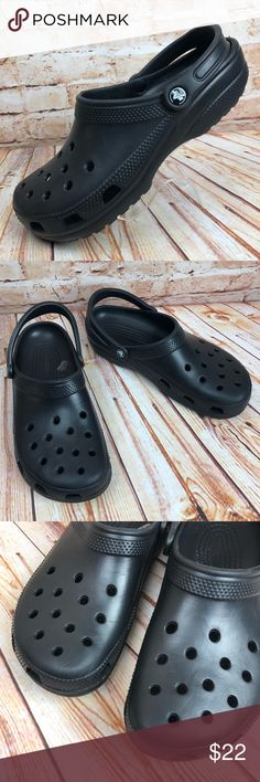 7ed8e45b099a Crocs Mens Sz 11 Black Classic Clogs Comfort Shoes Crocs Mens Size 11 Black  Classic Clogs