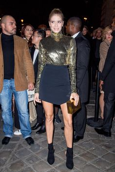 Elena Perminova  LOreal Gold Obsession Party in Paris Oct-2016 Celebstills E Elena Perminova