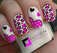 Nail art pink heart pink nails в 2019 г. Cute Nail Art, Cute Nails, Pretty Nails, Valentine Nail Art, Leopard Nails, Heart Nails, Boxing Day, Shellac Nails, Toe Nail Designs