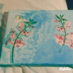 Mijn eerst schilderij bij Anja Vloet gamaakt