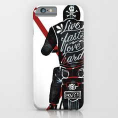 Phone case - Live fast, love hard -by Landon Sheely
