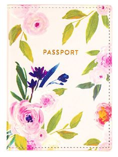 Shop Floral Vegan Leather Passport Case from Eccolo at Neiman Marcus Last Call, where you'll save as much as on designer fashions. Passport Holders, Passport Wallet, Passport Cover, Book Holders, Leather Books, World Traveler, Toiletry Bag, Floral, Pink