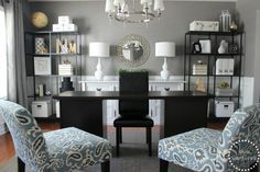 Formal Dining Room turned home office. Where's Ty Penningt… Formal Dining Room turned home office. Where's Ty Pennington when you need him! Dining Room Office, Home, Interior, Office Space Inspiration, Formal Dining Room, Home Office Furniture, Home Office Design, Home Decor, Office Design