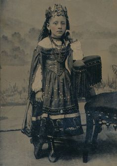 Tintype of A Gypsy Princess Wearing Crown Jewels in CDV Case A Very RARE Tin | eBay