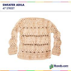 Sweater Adila #47Street #Moda #nenas  Para ver talles y comprar ¡Hacé click en la imagen!