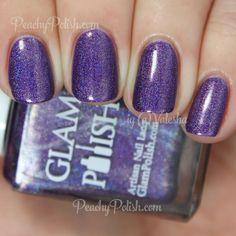 Glam Polish KA-BOOM!   Knockout Collection   Peachy Polish #purple glitter