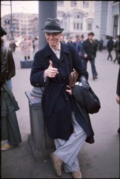 David Bowie in Moscow, 1976, by Andrew Kent.