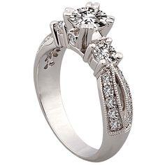 3-Stone Multi-Stone Engagement Ring by http://www.engagediamonds.com/