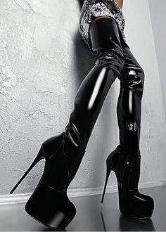 146.00$  Buy now - http://alivin.shopchina.info/go.php?t=32787943867 - Stunning 16 cm Stiletto Heel Female Thigh High Boots Glamorous Round Toe Platform Gladiator Nightclub Women Boots Free Shipping 146.00$ #aliexpress