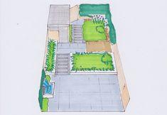 Voorbeeld hoe een ontwerp te tekenen Planer, Beach Mat, Garden Design, Sweet Home, Outdoor Blanket, Home And Garden, Backyard, Layout, How To Plan