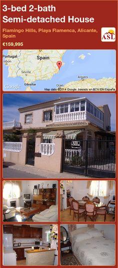 3-bed 2-bath Semi-detached House in Flamingo Hills, Playa Flamenca, Alicante, Spain ►€159,995 #PropertyForSaleInSpain