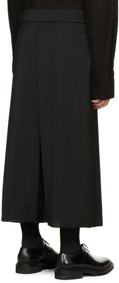 Thamanyah Black Wool Culottes