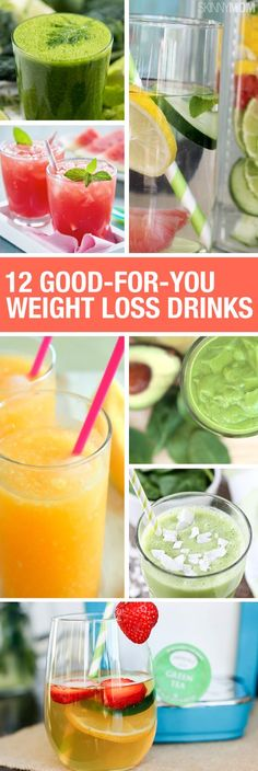 Try some of these weight-loss drinks and just watch the pounds fall off.