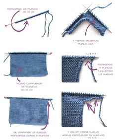 Cómo hacer una chaqueta de bebé a dos agujas -DIY-