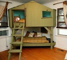 Youngsters Bedroom Furnishings – Bunk Beds for Kids Bunk Beds For Girls Room, Toddler Bunk Beds, Cool Kids Bedrooms, Bunk Beds With Stairs, Cool Bunk Beds, Kid Beds, Girls Bedroom, Kids Rooms, Sharing Bed