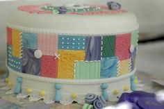 (?) Quilt cake for Bubba's birthday...  Quilt Cake by The Deutsch Girl, via Flickr