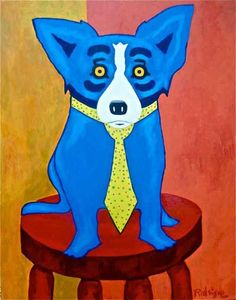 Artist George Rodrigue...known for his Blue Dog paintings
