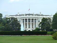 La Maison Blanche (ou the White House) à Washington DC, la résidence officielle du Président des États-Unis.