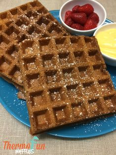 A thermomix waffle recipe that is sure to excite the whole family. Top with homemade lemon curd, monkey jam or just with some drizzled chocolate, strawberri Thermomix Pancakes, Thermomix Desserts, Diabetic Recipes, Cooking Recipes, Bellini Recipe, Decadent Food, Monkey Jam, Good Foods For Diabetics, Pancakes And Waffles