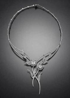 Beautiful Flower Lily Handmade Collar Women Necklace 925 Sterling silver Gift Nw #NikiGems #Collar