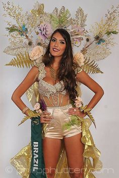 Miss Brazil - Thiessa Sickert  posing with  her National Costume as part of the activities. Miss Earth 2015 was held on 5 December 2015 at Marx Halle in Vienna, Austria. It was the first time the pageant was held in Europe and outside of Asia. It was also the first back to back victories in Miss Earth history: Angelia Ong of the Philippines crowned by Jamie Herrell of the Philippines. #NationalCostumes #MissEarth2015 #BeautyPageant #BeautiesForACause
