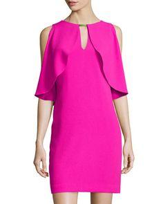 Trina Turk sleeveless shift dress with cape