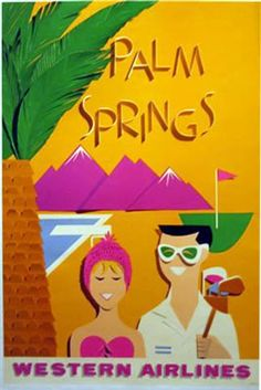 Palm Springs retro poster - Bing Images