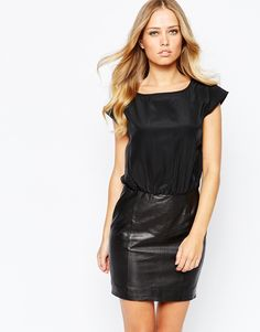 Buy woman leather dresses skirts, shopping runway street inspired outfits Asos Topshop, free personalized daily curated style advice