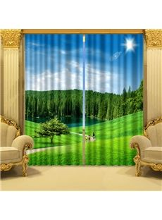 New Arrival Fresh Nature Printed 3D Curtain
