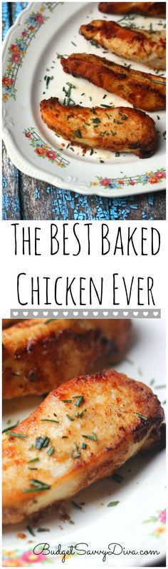 DONE in 30 minutes!!!! Chicken is SUPER moist -  make sure to pin The Best Baked Chicken Ever Recipe – Marie Recipe