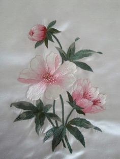 Wonderful Ribbon Embroidery Flowers by Hand Ideas. Enchanting Ribbon Embroidery Flowers by Hand Ideas. Embroidery Flowers Pattern, Hand Embroidery Stitches, Silk Ribbon Embroidery, Crewel Embroidery, Hand Embroidery Designs, Embroidery Patterns, Embroidery Supplies, Embroidery Needles, Bordado Floral