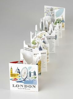London: A Three-Dimensional Expanding City Skyline by Sarah McMenemy: