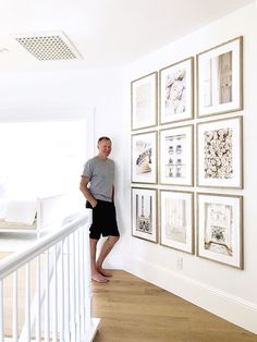 👏🏼 to for this gorgeous grid gallery wall of art. (And to her husband for hanging it! Gallery Wall Layout, Gallery Wall Frames, Frames On Wall, Gallery Walls, Ikea Frames, Art Gallery, Picture Wall, Photo Wall, Ikea Picture Frame