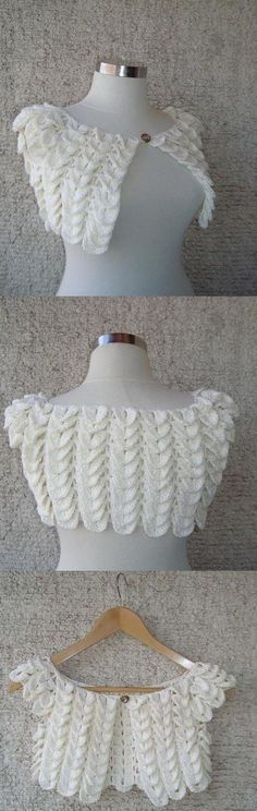 Learn how to knit Bolero fish scale pattern.Size: 36 - 38