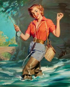 Bus Stop | Bill Medcalf. Pin-Up girls | American ladies #Pin-Ups # ...