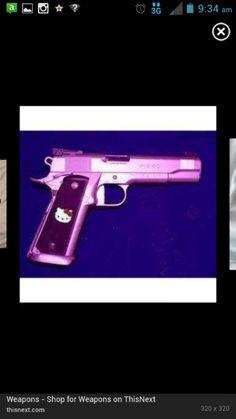 Hello kitty purple gun