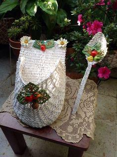 cesteria en papel de periodico (cesteria china) - Buscar con Google