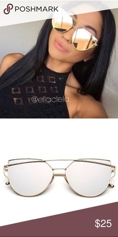 Newest Designer Brand Cateye Mirror Sunglasses You always see this on Instagram and Blogs. Brand new and high quality. UV Protection. No trade. Browse my closet to see more sunglasses. Follow me to see new listings. Thank you. Accessories Sunglasses