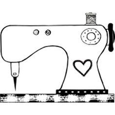 Carimbo de Madeira Maquina de Costura 016/CO