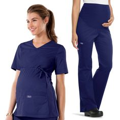 23e9613a485 Workwear Women's Maternity Scrub Top & Scrub Pant Set Cheap Maternity  Scrubs, Core Stretches