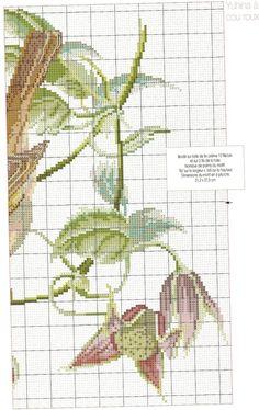 Cross-stitch Bird, part 2...  color chart on part 1...   carpintero