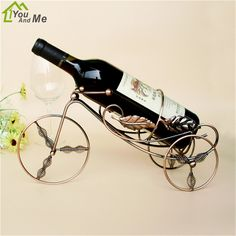 You And Me Creative Spring Tricycle Wine Rack Home Decor Wine Bottle Shelf Living Room Barware Wedding Brand Wine Accessories